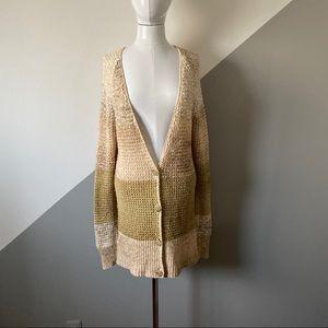 Free People M Oversized Long Sweater Open Knit